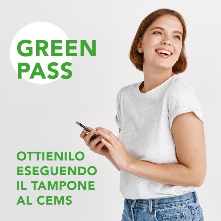 Green Pass con tampone al Cems
